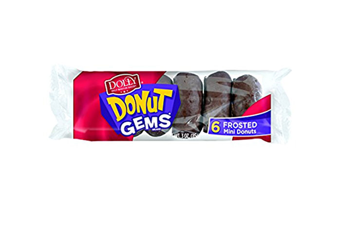 Dolly Madison Donut Gems, Chocolate Frosted 6 pack
